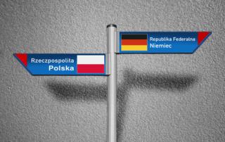 Drogowskaz Polska-Niemcy